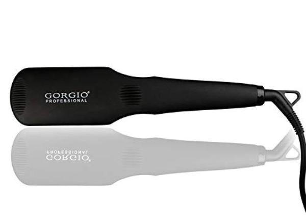 Gorgio Professional HB3000 Hair Straightener Brush with Ceramic Coating (Black)   Profesional Hair Straightener Brush  