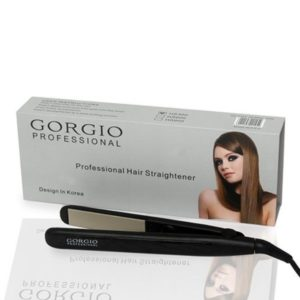 Gorgio Professional High Performance Hair Straightener HS300 with Ceramic and Teflon Coating for Frizz Free Hair (Black)
