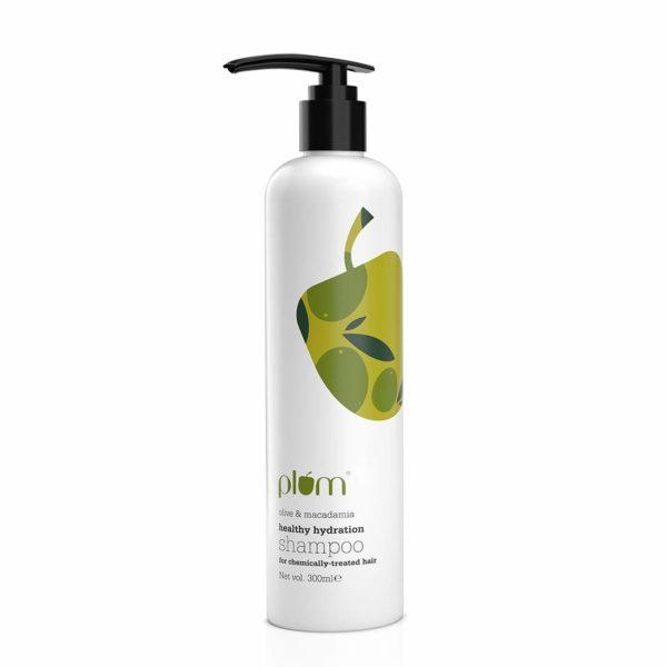 Plum Olive & Macadamia Healthy Hydration Shampoo, Green, 300ml