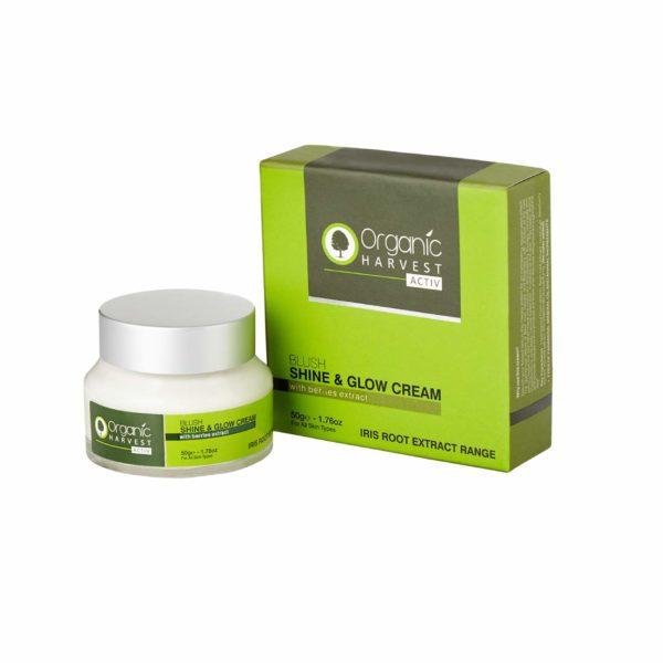 Organic Harvest Irish Root Extract Range Activ Shine and Glow Cream, 50g