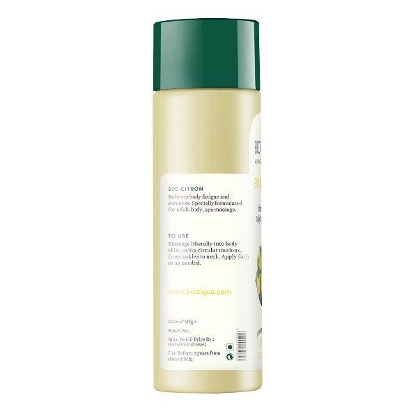 Biotique Bio Citron Stimulating Body Massage Oil, 200ml