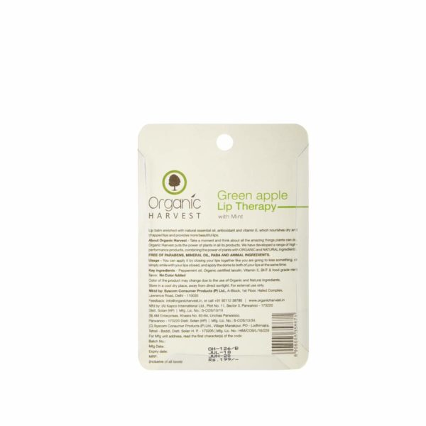 Organic Harvest Green Apple Lip Therapy (10g)