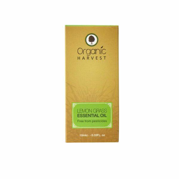 Organic Harvest Lemon Grass Essential Oil, 10 ml