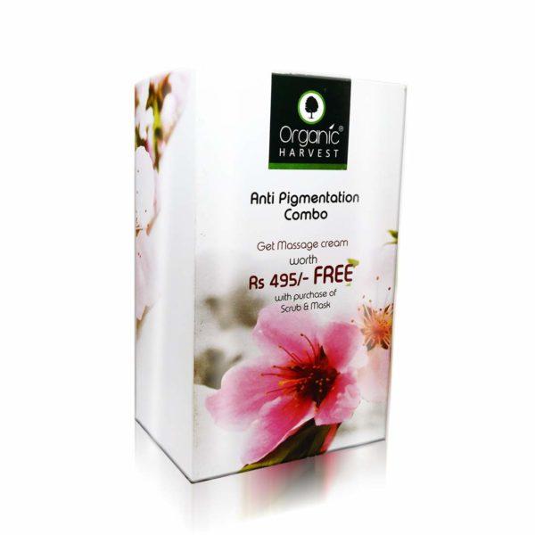 Organic Harvest Face Scrub -Exfoliating, Face Mask -Anti Tan and Massage Cream -Anti Pigmentation Combo